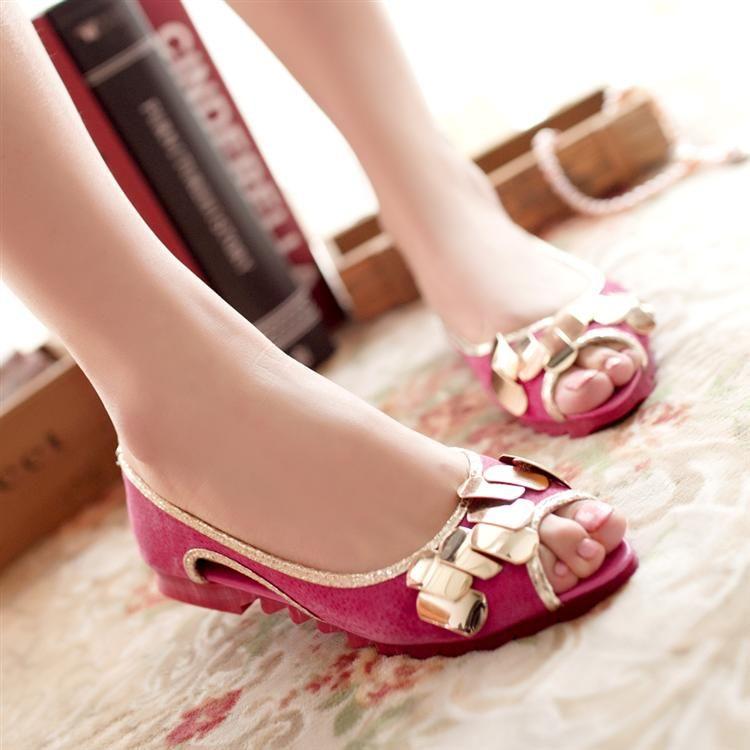 Platform shoes flat shoes women's 2013 open toe shoe sandals sweet