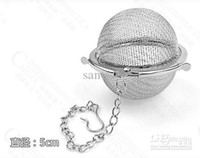 Tea Infusers tea ball strainer - Stainless Steel Tea Pot Infuser Sphere Mesh Tea Strainer filler Ball cm Tea Infuser
