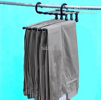 Wholesale plastic Magic trousers hanger rack multifunction pants closet hanger rack in one