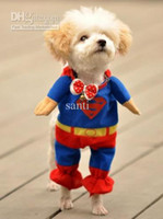 Wholesale Superman Suit Pet Puppy CHIC Cotton Clothes Costumes