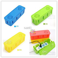 Plastic electrical wiring - Plug seat socket storage box Electrical wire junction box power cord storage Cable Winder