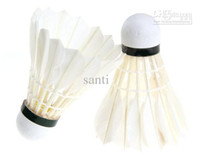 Wholesale Light Birdies badminton shuttlecocks Ball Game Sport Training White Goose Feather Shuttlecocks