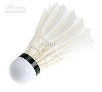 Wholesale Sport Training White Goose Feather Shuttlecocks Birdies Badminton