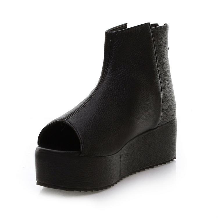 2013 vintage cool boots princess open toe shoe wedges platform boots