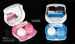 Wholesale electronic contact lens case box automatic cleaning lovely octopus lens case
