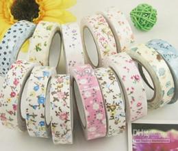 Washi Masking Cloth Ruban adhésif autocollant Ruban de tissu de décoration Janpan style Fleur Frabric DIY Tape cheap cloth washi tape à partir de washi bande de tissu fournisseurs