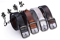 Wholesale Hot Sell fashion leather belt for men colors belt men buckle belts Mixed Order