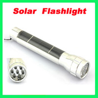Wholesale Super Solar Power Flashlight LED Camping Torch Lamp