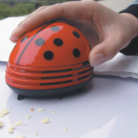 Wholesale New Sale Colors Available Cute Beetle Mini Desktop Desk Vacuum Dust Cleaner