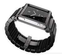 No aluminum material For iPod Nano all metal aluminum material LunaTik Lynk Watch Kits Band luna tik Wrist Strap Case For iPod Nano 6