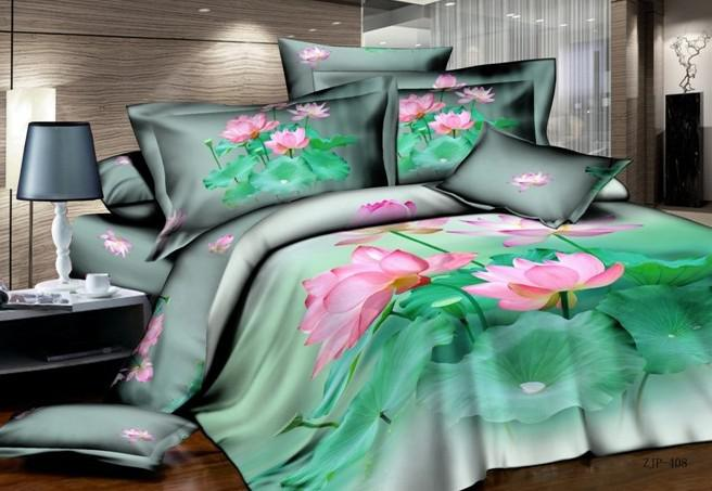 3d vert n nuphar floral literie ensemble couette queen for Housse requirements