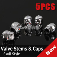 Wholesale Skull Style Bike Car Motorcycle Tire Tyre Valve Dust Cap Cover DK1360