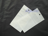 Wholesale 14x8 cm clear white retail plastic package bag packing bag for Mobile Phone Accessories