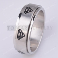 Wholesale Teboer Jewelry L Stainless Steel Superman Spinner Ring MER224