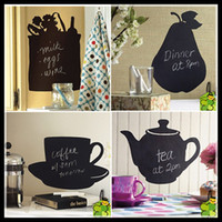 Removable chalk a-board - Hot Sale Creative kitchen Wall Sticker Home Decor Bar Removable with a Chalk fancy drawing board