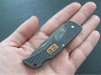 Wholesale GERBER Bear Grylls Scout Knife Camping Folding knife Half Serrated Blade Knives sample