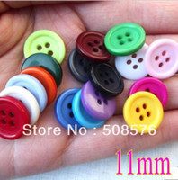 Wholesale 11MM Mix Colors sewing buttons bulk buttons Resin sewing accessories FreeShipping