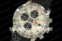 Wholesale Miglia GMT SS White Dial Mens Automatic Chronograph Watch Asia bph Move