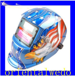 Wholesale American Flag Eagle Print Auto Darkening Welding Helmet Mask MIG ARC TIG Welder top sale