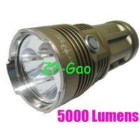Wholesale Waterproof SKY RAY KING X CREE XM L T6 LED High Brightness Flashlight Torch Lumens
