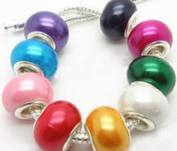 Wholesale Mix Color charms resin Big Hole loose beads Pandora jewelry Fit DIY European bracelet per