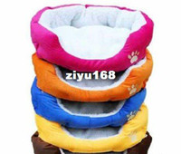Wholesale Colorful Pet Cat And Dog Bed Pink Orange Blue Yellow Brown Gray Green Size M L