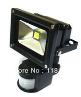 Wholesale 10W LED PIR Passive Infrared Motion Sensor Warm white Cool white flood Light for outdoor Security