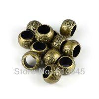 Wholesale 50PCS Super Jewellery Scarf Pendants Antique Bronze CCB Charm Beads AC0133B