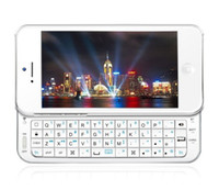 Wholesale Bluetooth ultra thin slide out wireless slider QWERTY keyboard hard case for iphone