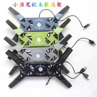 Wholesale Retail Collapsible USB Laptop Cooling Pads Cooler Notebook Netbook With Fans Summer Necessary