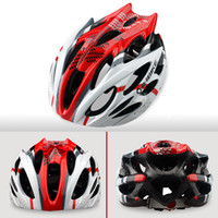 Wholesale NEW Cycling Red Helmet A Integrated Ultralight Racing Bicycle Helmet with holes visor