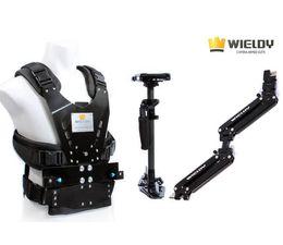Wieldy 1-7kg Carga Estabilizador De Fibra De Carbono Cámara Steadicam Video Steadycam