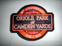 Wholesale NEW baseball th ANNIVERSARY ORIOLE PARK CAMDEN YARDS patch football Badge jerseys mix order