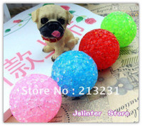 Wholesale Cat and dog toys with bell toy rubber round particle ball