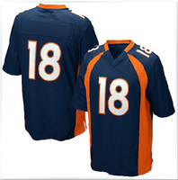 Men Jerseys  American Football Wear Danver 18 Dark Blur White Orange Jerseys Mix order free shipping HH123123
