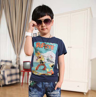 Wholesale Children T Shirts Tee Shirt Short Sleeve T Shirt Boys Clothes Fashion Casual Cartoon Printed Shirts