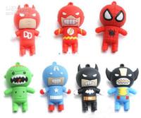 No batman memory - Funny Cartoon Batman amp Spider Man USB Flash Memory Stick Pen Drive U disk Real GB GB GB GB box