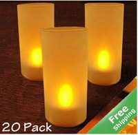 religious candles - Yellow LED Candle Sound Sensor Lamps Cup