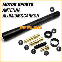 Wholesale Car decoration quot carbon fibre and aluminium motor sport antenna quality guaranteed easy installation long service life