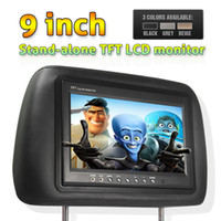 Wholesale 9 inch stand alone headrest TFT LCD monitor English OSD Menu Two Video inputs Car DVD player S683