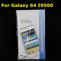For Samsung Front  Screen Protector For Galaxy S4 I9500 Anti glare Matte High Clear Guard for Samsung DHL Fedex free
