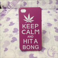 Wholesale KEEP CALM AND HIT A BONG CARRY ON Series Pattern Plastic Hard Back Cover Case Skin for iPhone S