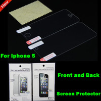 Wholesale Back and Front Clear Anti glare Matte LCD Screen Guard Protector Film Cover for iPhone Iphone5 hot