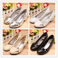 Wholesale Hot Korea Princess Style Gril s high heeled shoes wedge heel kids High heels Children s Dress Shoes