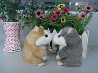 Wholesale Set of Mimicry Pet Talking Hamster and moving Hamster talking Plush Toy Gray light brown Color Speaking Toys