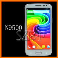Wholesale N9500 Android MTK6589 Quad Core Smart Phone Inch HD Screen G G MP Camera Grey White