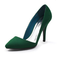 Wholesale New suede stiletto heel pointy toe dress shoes TH12091
