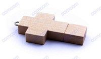 Wholesale dhl free ship GB wooden cross USB Flash Memory Pen Drives Sticks Disks Pendrives Thumbdrives
