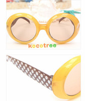Wholesale Hot selling children s sunglasses dot baby glasses yurt UV protection many colors kids gifts