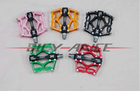Wholesale New arrivel XPEDO AC CNC mtb amp road bicycle pedals silver black red green gold pink Cycling bike pedals